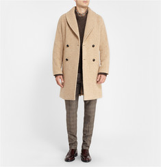 MP di Massimo Piombo Double-Breasted Alpaca-Blend Overcoat