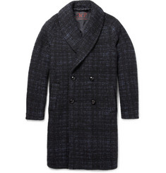 MP di Massimo Piombo Baby Alpaca-Blend Shawl-Collar Overcoat