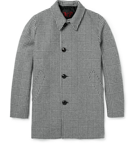 MP di Massimo Piombo Wool-Blend Houndstooth Coat