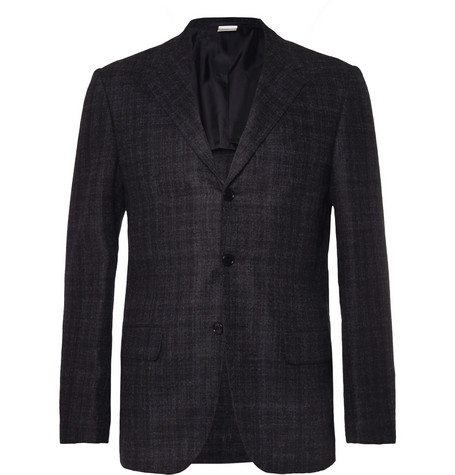 MP di Massimo Piombo Check Wool and Baby Alpaca-Blend Blazer