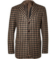 MP Massimo Piombo - Unstructured Check Wool Blazer