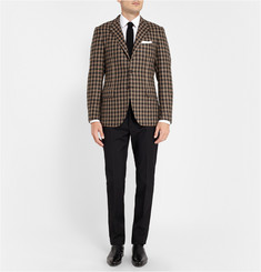 MP di Massimo Piombo Unstructured Check Wool Blazer