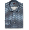 MP Massimo Piombo Lightweight Printed-Cotton Shirt