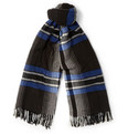 MP di Massimo Piombo Checked Knitted Wool Scarf