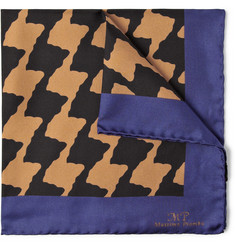 MP di Massimo Piombo Printed Silk-Faille Pocket Square