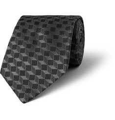 MP di Massimo Piombo Patterned Silk-Faille Tie