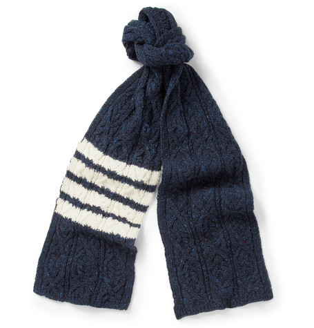 Thom Browne Wool and Mohair-Blend Scarf