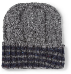 Thom Browne Wool and Mohair-Blend Beanie Hat