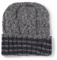 Thom Browne - Wool and Mohair-Blend Beanie Hat