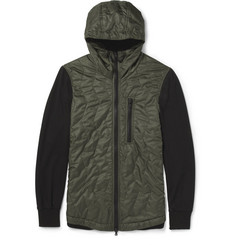 Christopher Raeburn Panelled Quilted and Mesh Bomber Jacket