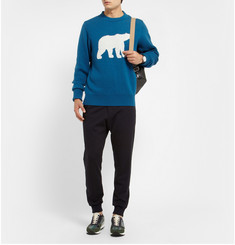 Christopher Raeburn Polar Bear-Patterned Merino Wool Sweater
