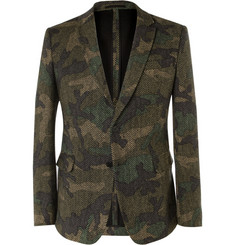Valentino Slim-Fit Woven-Wool Suit Jacket