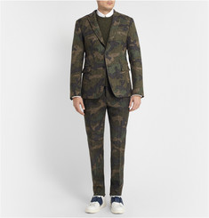 Valentino Green Slim-Fit Woven-Wool Suit Trousers