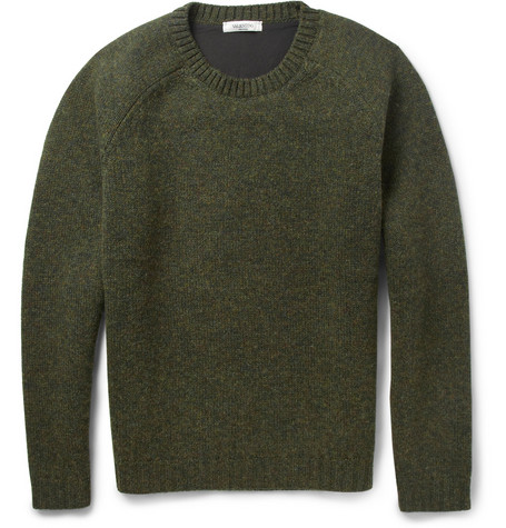 Valentino Bonded-Interior Knitted Wool-Blend Sweater