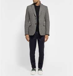 Valentino Herringbone Wool-Tweed Blazer