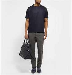 Valentino Pinstriped Wool and Cashmere-Blend T-Shirt