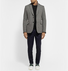 Valentino Slim-Fit Pinstriped Wool and Cashmere-Blend Trousers