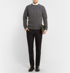 Valentino Bonded Flecked Knitted-Wool Sweater