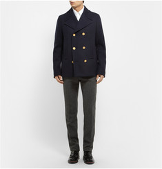 Valentino Double-Breasted Wool Peacoat