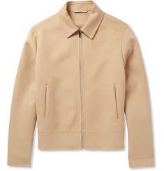 Valentino Brushed Wool and Cashmere-Blend Bomber Jacket