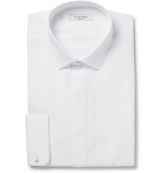 Valentino White Slim-Fit Cotton Shirt