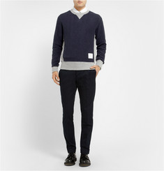 Thom Browne Panelled Cotton-Jersey Sweatshirt