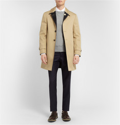 Thom Browne Reversible Cotton-Gabardine and Cashmere Raincoat