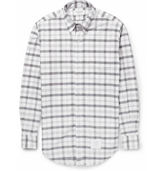 Thom Browne Plaid Cotton Oxford Shirt