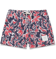 Thom Browne Short-Length Leaf-Print Swim Shorts