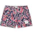 Thom Browne - Short-Length Leaf-Print Swim Shorts