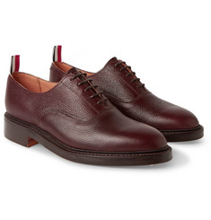 Thom Browne Pebble-Grain Leather Oxford Shoes