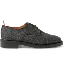 Thom Browne Gibson Wool-Tweed Derby Shoes