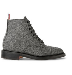 Thom Browne Gibson Wool-Tweed Derby Boots