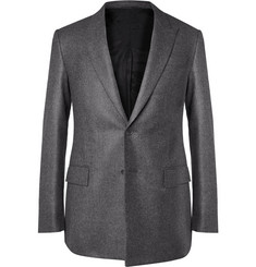 Givenchy Slim-Fit Wool Flannel Blazer with Back Strap
