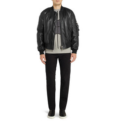 Givenchy Leather Bomber Jacket with Strap