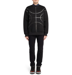 Givenchy Tape-Embellished Neoprene Sweatshirt