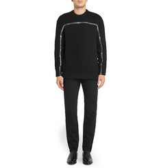Givenchy Zip-Embellished Open-Knit Wool-Blend Sweater