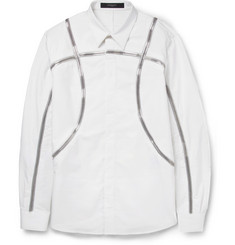 Givenchy Zip-Embellished Cotton Shirt