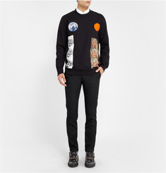 Raf Simons Sterling Ruby Planet-Collage Printed Cotton Sweatshirt