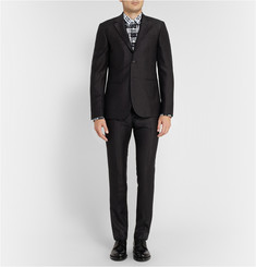 Raf Simons Charcoal Slim-Fit Degradé Wool Suit Trousers