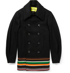Raf Simons Sterling Ruby Wool and Silk-Blend Peacoat