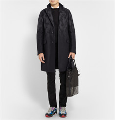 Raf Simons Sterling Ruby Camouflage Dégradé Wool Overcoat