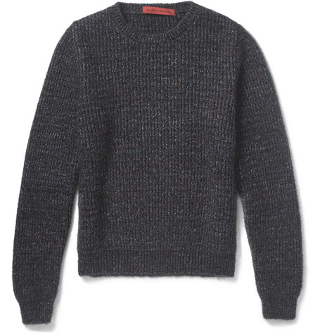 Raf Simons Flecked Chunky-Knit Sweater