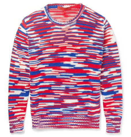 Raf Simons Sterling Ruby Striped Crew Neck Sweater