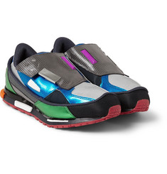 Raf Simons Adidas Leather and Mesh Sneakers