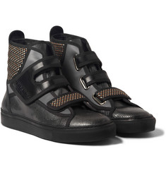 Raf Simons Panelled High Top Sneakers