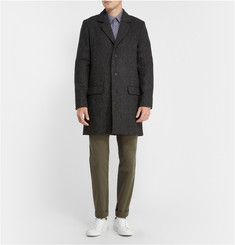 A.P.C. Unstructured Harris Tweed Wool Overcoat