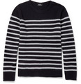 A.P.C. - Striped Knitted-Wool Crew Neck Sweater