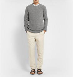 A.P.C. Crew Neck Alpaca and Wool-Blend Sweater