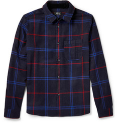 A.P.C. Check Wool-Blend Flannel Shirt